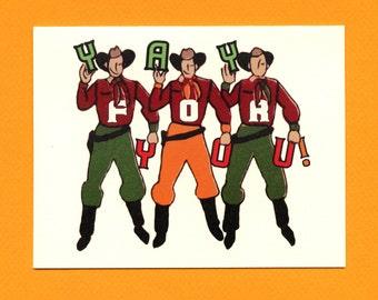 YAY COWBOYS - Congratulations Card - Graduation - Congratulations - Cowboys - Gay Cowboys - Yay - Brokeback - Graduation Card - Item# C039