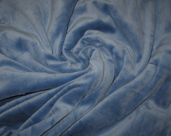 80/20 CVc Cotton Velour  - Slate Blue CVC Velour