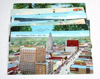 12 Vintage Mississippi Postcards - Used