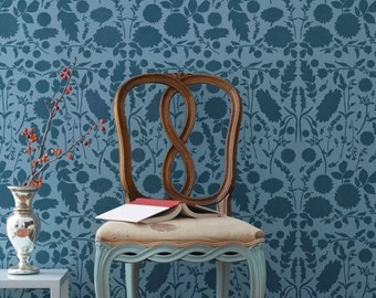Large Forest Floor Damask Allover Wall Stencil for Easy DIY Wallpaper Decor