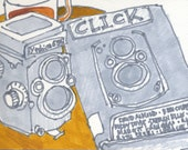 Drawing: Vintage Camera