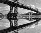 Brooklyn Bridge Reflections, New York City 8x10 Fine Art Print