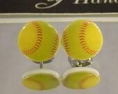 Softball Stud Earrings - surgical steel