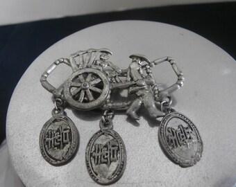 1930s Asian Good Luck Pin Brooch