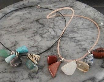 Interchangeable 12 Gemstones Necklace Set