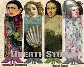 Printable Famous Women in Art Bookmarks
