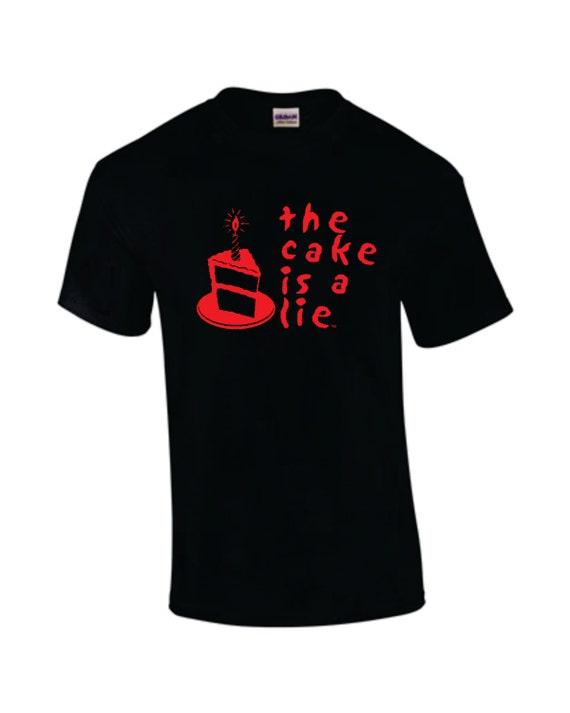 The Cake is a Lie t-shirt, Aperture Labs, Portal