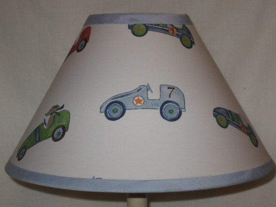 Roadster Boy S Nursery Lamp Shade M2m Pottery Barn Kids