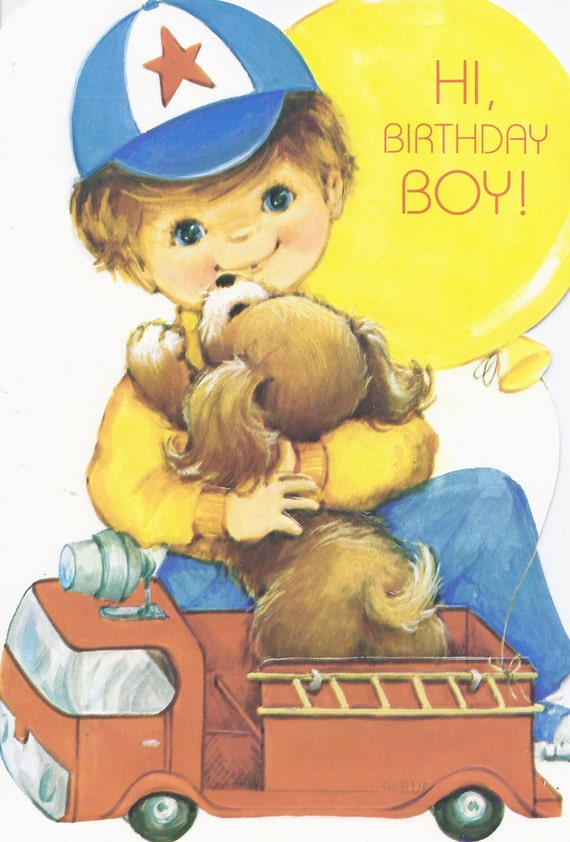 Superb Items Similar To M383 Vintage Rust Craft Birthday Boy Personalised Birthday Cards Sponlily Jamesorg