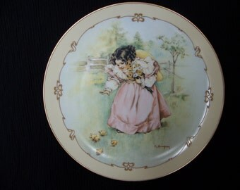 A Day In The Country - Maud Humphrey Bogart Collectible Plate - Porcelain China