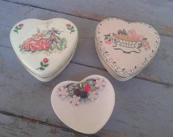 Vintage hearts - Daher boxes & Harrods dish