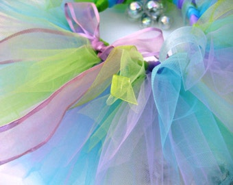 Woodland Fairy Tutu - Lavender, Aqua and Green Girls, Toddlers, Infants Photo Prop or Just for Fun