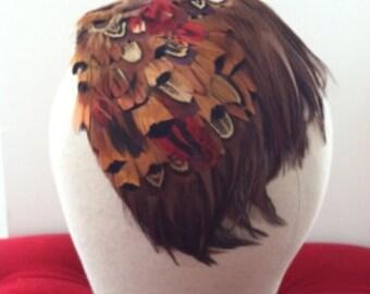 Vintage 1950's Pheasant Feather Headband
