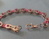 Breast Cancer Awareness Pink Ribbon Bike Chain Bracelet - CABRAC01