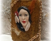 Native American Indian Girl, Altered Altoid Tin Box