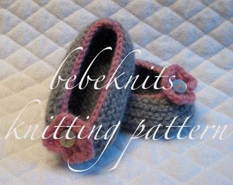 Bebeknits Baby Ballet Slipper Knitting Pattern