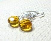 Dangle Earrings, Brandy Quartz Faceted Teardrop Earrings, Drop Earrings, Women's Jewelry, Sterling Silver