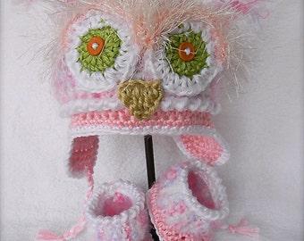 Baby girl gift set Pink Owl