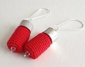 Crochet Earrings In Red Colour Summer Palette 2013 - FallingDew