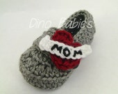 Tattoo Heart Mom Infant Loafers Baby Booties Heart Breaker