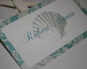 Beach Theme Place or Escort Cards Layered - Wedding/Quince/Bat Mitzvah - Beach Theme