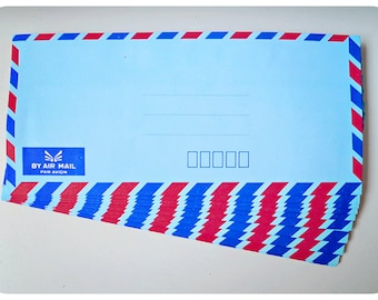 10 Blue Air mail envelopes