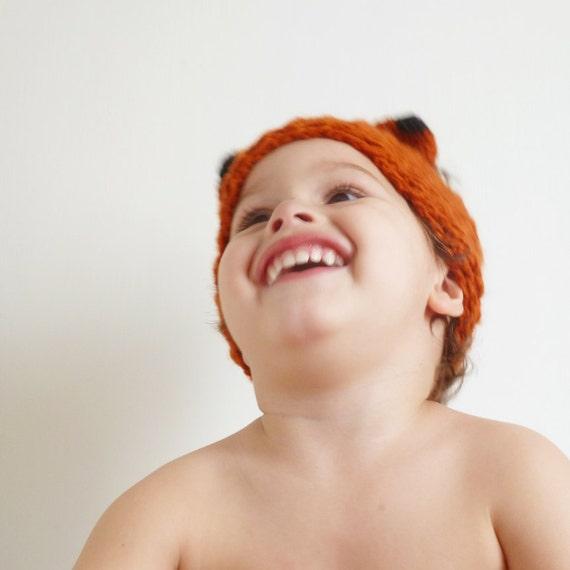 Fox Crochet Pattern Headband PDF - head wrap animal ears Fox - baby/kids/woman/man accessory 5 sizes beginner pattern - Instant Download