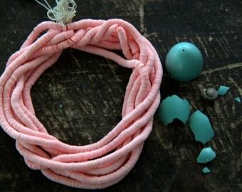 Peach Sorbet: Vintage Belgian Faceted Sequins 4mm / Vintage Jewelry Making, Craft Supplies / Pastel Bridal Nolstalgia Sparkle