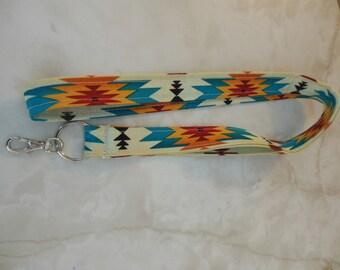 Fabric Lanyard-Tribal