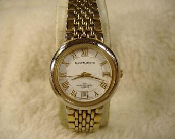 Vintage 1980s Jaclyn Smith Calendar Quartz Watch.