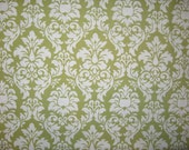 "Michael Miller Dandy Damask green white 21"" X 42"""
