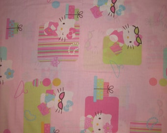 "Hello Kitty on pink Japan import  42"" X 34"""