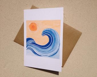 """Beach Notecards - Las Olas - Set of Eight (3 1/2"""" X 5"""")"""