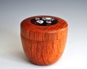 Turned Box in Sheoak from Australia with enamel on copper insert (price reduction)