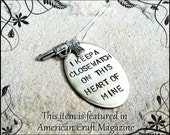 Johnny Cash,I Keep A Close Watch On This Heart Of Mine, Custom Hand Stamped, Close Watch, This Heart of Mine, Johny Cash Necklace