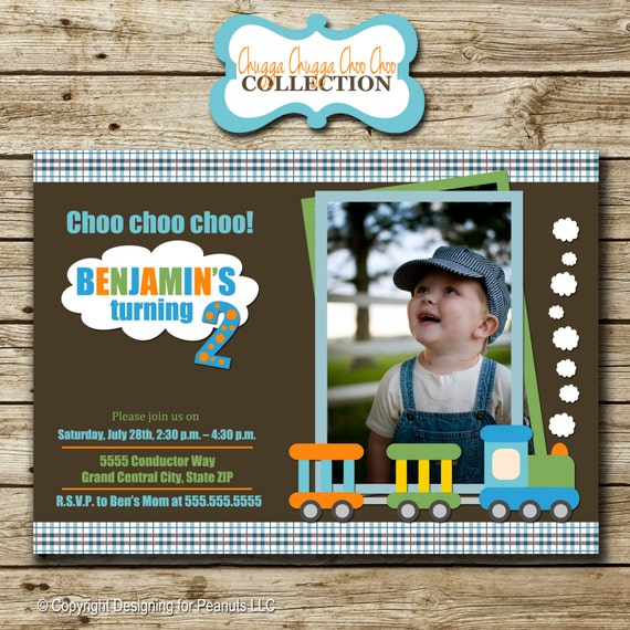 Train Birthday Invitation | Train Birthday Invite | Train Birthday Party Printables digital
