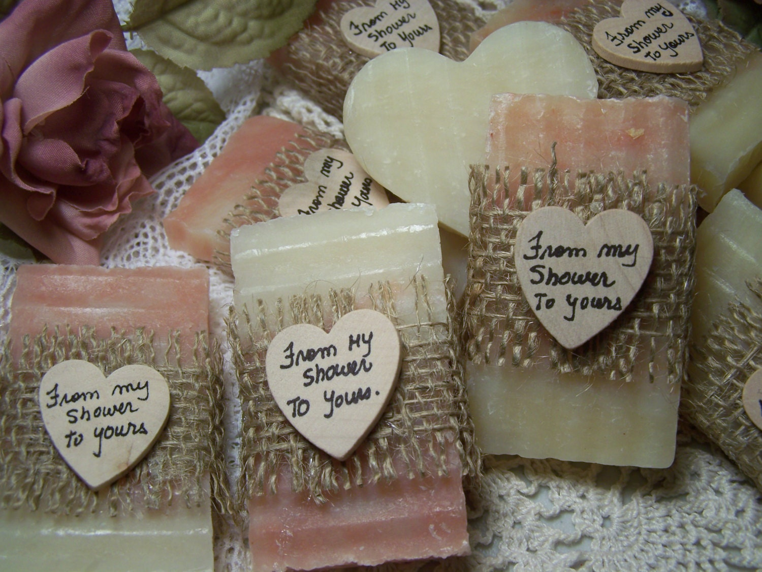 From My Shower To Yours Blush Soaps 30 Bridal Shower Favors