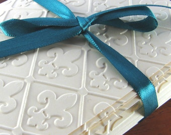 Fleur de Lis (Blank Cards, Set of 8, French, Thank You, All Occasion)