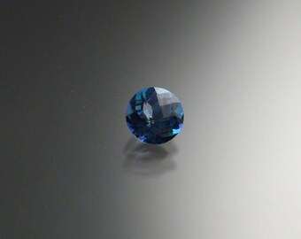Blue Mystic Topaz checkerboard cut loose stone 6mm round