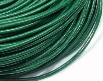 Leather Cord 2mm Genuine Green - 2435 - Wholesale Leather Cord