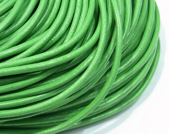 Leather Cord 2mm Genuine Light Green - 2436 - Wholesale Leather Cord
