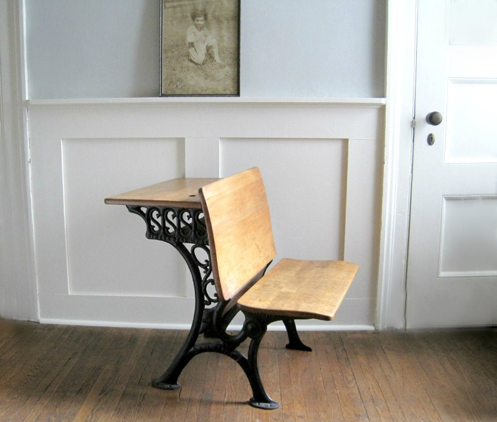 Antique School Desk Bench Seat By Goldendaysantiques On Etsy
