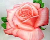 Vintage Pink Rose Wallflower Cutout Decorations See also- Daffodil Iris Daisy Flowers