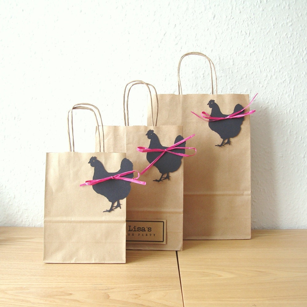 Hen Party Ideas For Small Groups: Hen Party Bag SMALL 15cm X 19.5cm X 8cm Personalised With