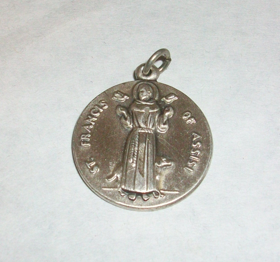 st francis of assisi pendant medal on 18 by