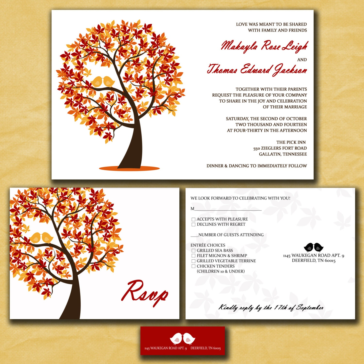 Fall Wedding Invitation Quotes