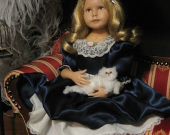 "Beautiful 18 inch Sculpted Cernit Sculpey Child Doll ""Serenity"" Signed by Artist Julie Fischer"
