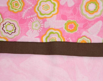 Pink Flower and Butterfly Standard Pillowcase