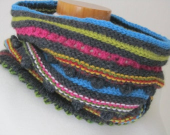 Happy Colours Cowl, PDF-Pattern