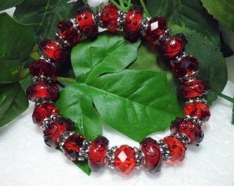 FREE SHIPPING! Fire Red Crystal Bracelet